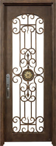 Single Hand Forged Galvanization Wrought Iron Entrance Door pictures & photos