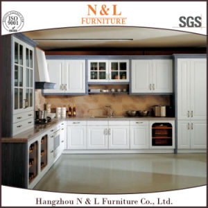 Free Design European Style PVC Membrane Kitchen Cabinets with Drawers pictures & photos