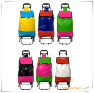 Two Wheels Shopping Trolley Bag for Promotional Gifts (HA82012) pictures & photos