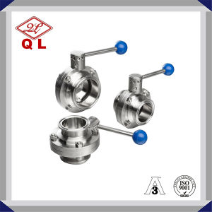 Hygienic Stainless Steel Butterfly Valve Clamped Manual Valve pictures & photos