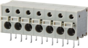 Wanjie 26-16AWG Wire Guard Screwless Terminal Block (WJ211R-5.0) pictures & photos