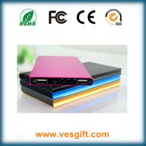 Ultra Slim Power Bank 6000mAh with Li-Polymer Battery pictures & photos