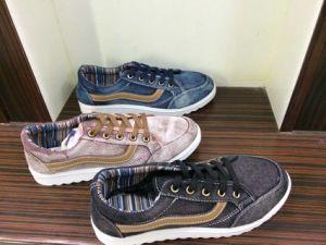 New Design Man′s Canvas Shoes (WH1017)