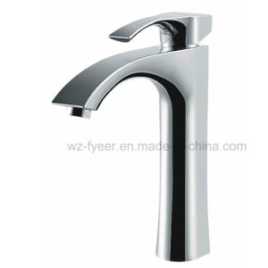 High Body Single Handle Bibcock Basin Sink Faucet (Q3035H) pictures & photos
