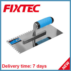 Fixtec 130mm Carbon Steel Plastering Trowel with Comfort TPR Handle pictures & photos