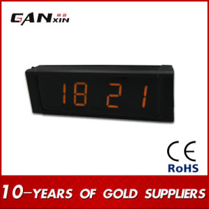 [Ganxin] 1 Inch Yellow Mini Table Digital World Time LED Clock pictures & photos