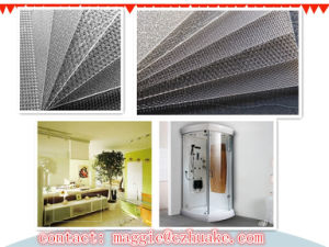 Semitransparent Embossed 3.5mm GPPS Sheet for Bathroom Door pictures & photos