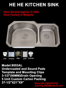 Kitchen Sink, Sink, Handmade Sink, Stainless Steel Sink 9553al pictures & photos