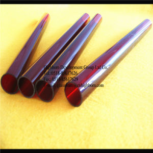 Red Color Quartz Glass Tube Supplier pictures & photos