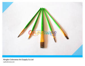 5PCS Wooden Handle Artist Brush in PVC Bag for Painting and Drawing pictures & photos