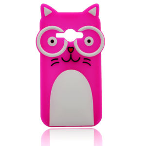Cartoon Cat Glasses Silicone Case for iPhone 6s/6plus Mobile Phone Cover (XSDW-007) pictures & photos