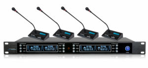 Wireless Conference System GS-648 Receiver with 4 GS-700c Microphone pictures & photos