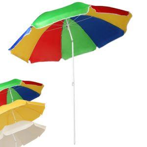 Height Adjustable Parasol Beach Garden Patio Sun Shade Protection Parasol