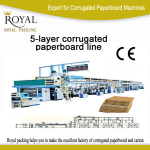 5 Layer Corrugated Paperboard Productionline Carton Machine pictures & photos