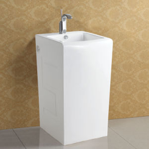 Rectangular Shaped Freestanding Pedestal Basin