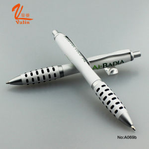 Promotional White Ball Pen with Logo Printed pictures & photos