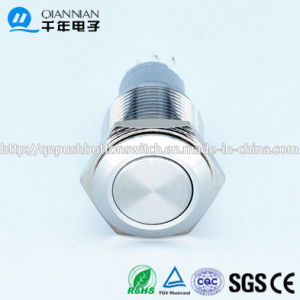 Qn16-B1 16mm Plated Color Flat Momentary Short Budy Push Button Switch pictures & photos