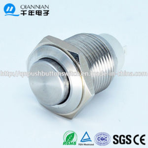 Qn16-E2 16mm Latching Elevated Head Metal Push Button Switch pictures & photos