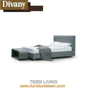 Euro Hot Sale New Design Bedroom Leather Bed pictures & photos