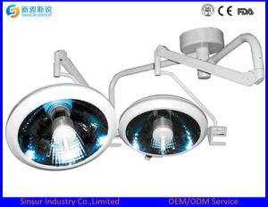 Qualified Halogen Double Dome Ceiling Shadowless Operating Surgical Lamp pictures & photos