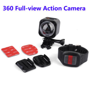 4k Resolution 360 Degree Panoramic Camera Outdoor Sports DV WiFi Mini Wireless Action Camera pictures & photos