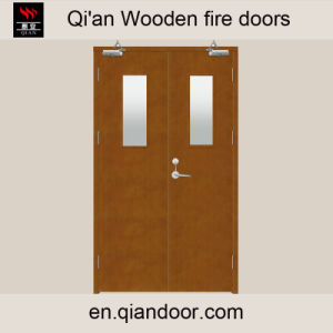 Wooden Fire Door with Vision Panel pictures & photos