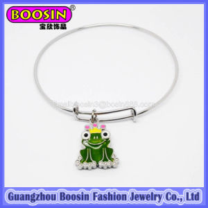 fashion Silver Frog Charm Bangle Bracelet Jewelry for Kids #31454 pictures & photos