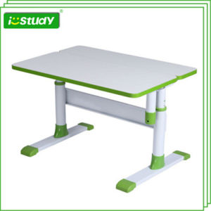 Friendly-Environment Height Adjustable Wooden Computer Table Set Hya-07 pictures & photos