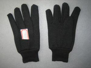 10oz Brown Jersey Liner Cotton Work Glove (2101) pictures & photos
