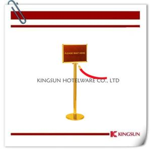 Crowd Control Stanchions with Sign Frame pictures & photos