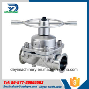 Stainless Steel Clamped Diaphragm Valve with Hand Wheel (DY-V106) pictures & photos