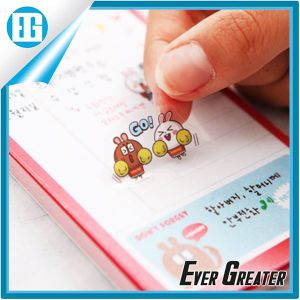 Custom Red Round Adhesive Sticker Printing White Crown pictures & photos