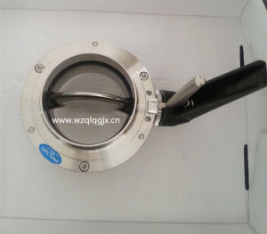 Food Grade Sanitary Stainless Steel Butterfly Valve pictures & photos