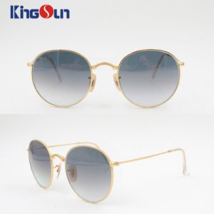 Fashion Unisex′s Sunglasses Round Shape with Wire Temple Ks1142 pictures & photos