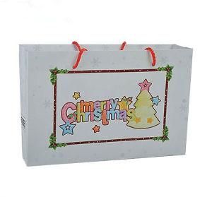 White Kraft Paper Printing Bag for Christmas Day