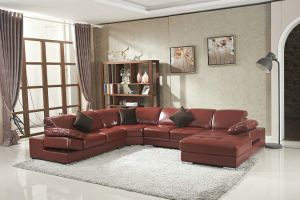 U Shape Living Room Leather Sofa pictures & photos