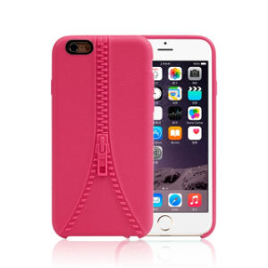 Zipper Soft TPU Phone Case for iPhone 6 6s Plus pictures & photos