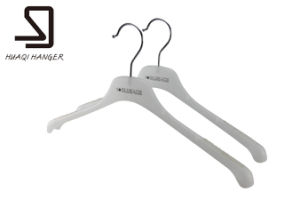 Black Flocked ABS PP Plastic Hanger for Female Woman pictures & photos