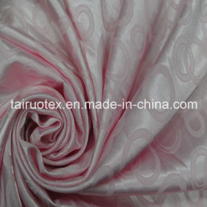 100% Polyester Jacquard Silk Satin for Lady Fashion Clothes pictures & photos