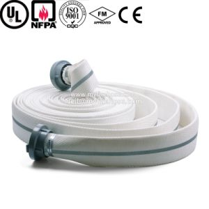 Double Jacket PVC Fire Resistant Hydrant Hose Manufacture pictures & photos