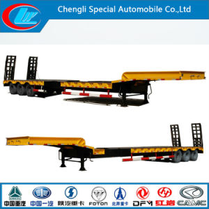 3 Axles Low Bed Semi Trailer for Sale pictures & photos