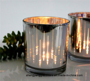 Hot Sell Candle Holder Glass Cup Candlestick Glassware Home Decoration pictures & photos