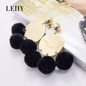 Hot Fashion Drop Earrings Jewelry Disco-Casting POM-POM Tassel Earrings Designs pictures & photos