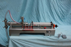 Semi-Automatic One Heads Water/Juice/Oil Liquids Filling Machine (G1WYD) 50-500ml pictures & photos