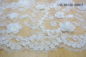 White Rayon Floral Lace Wedding Factory Vl-80138-3dbcp pictures & photos