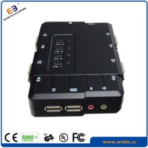 Plastic 4 Port Kvm Switch with Audio pictures & photos