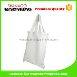 White Fashion Big Size Canvas Shopping Bag pictures & photos