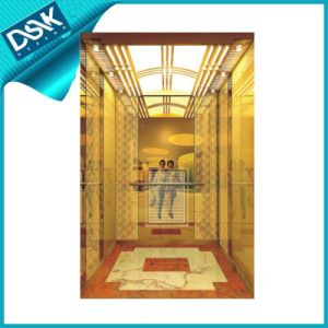Good Quality Passenger Elevator with Ti-Gold Etched pictures & photos