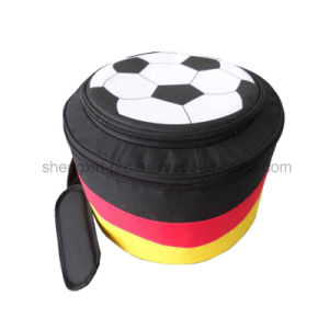 Polyester Football Shape Cooler Bag with Full Logo Printing
