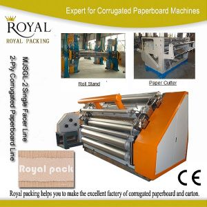 Corrugated Making Machine with Good Price (MJSGL-2) pictures & photos